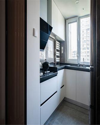 100平米一室一厅现代简约风格厨房图