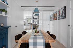 110平米三室两厅英伦风格客厅设计图