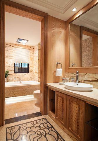 140平米一室一厅田园风格卫生间装修案例