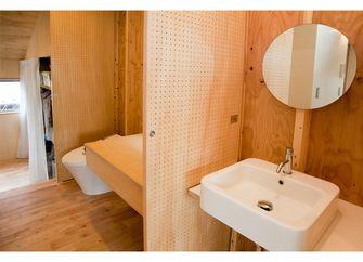 60平米一居室田园风格卫生间图片大全
