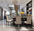 豪华型140平米别墅混搭风格楼梯装修图片大全