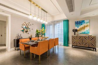 140平米三室三厅英伦风格餐厅设计图
