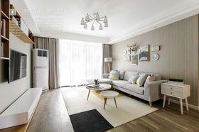 140平米三室兩廳北歐風格客廳圖片大全
