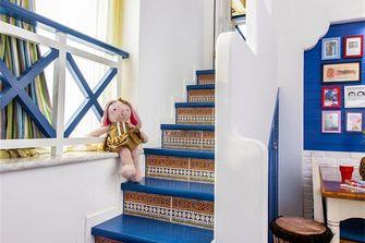 140平米三室两厅地中海风格楼梯间装修案例