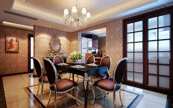 140平米四室一厅英伦风格餐厅图片大全