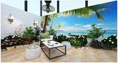 130平米复式地中海风格影音室设计图