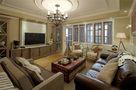 120平米三室一厅田园风格客厅效果图