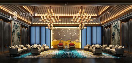 140平米别墅中式风格客厅装修案例