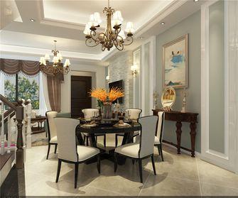 140平米四室两厅美式风格餐厅图片