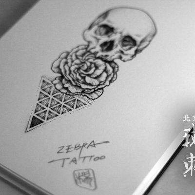 骷髅纹身图
