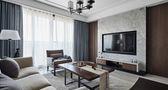 130平米四现代简约风格客厅飘窗设计图