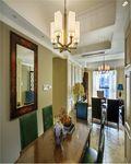 70平米三室一厅田园风格餐厅图片大全