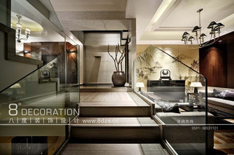 富裕型140平米复式北欧风格楼梯图片