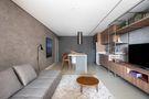 60平米一室一厅混搭风格客厅欣赏图