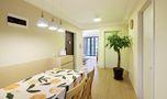 130平米三室两厅田园风格餐厅图
