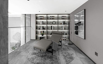 120平米三室一厅新古典风格书房装修效果图