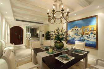 140平米三室三厅地中海风格餐厅图片