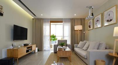 110平米三室两厅日式风格客厅装修效果图