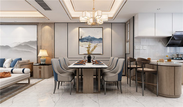 130平米三中式风格厨房图片大全