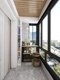 100平米三室两厅欧式风格阳台图