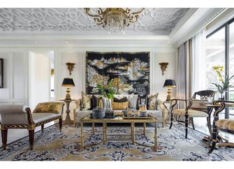 140平米四室四厅法式风格客厅图