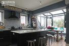 120平米三室两厅新古典风格厨房背景墙图片大全