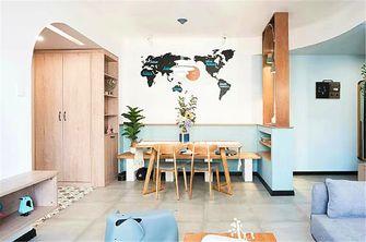 80平米三室两厅田园风格餐厅欣赏图