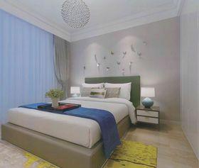 5-10万90平米三室一厅现代简约风格卧室图片大全
