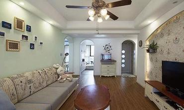 100平米三室两厅田园风格客厅图片