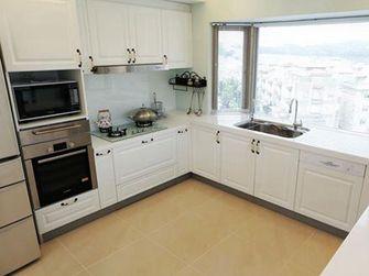 80平米三室一厅英伦风格厨房图