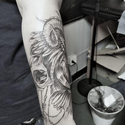 酷炫狮子2纹身图