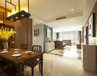 120平米三室一厅混搭风格餐厅图