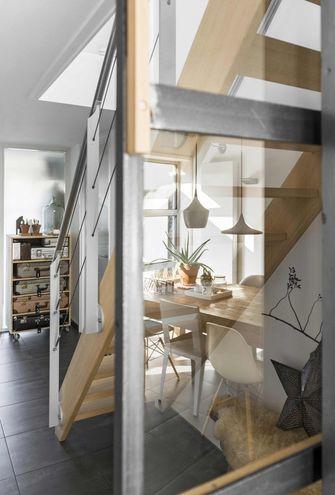 60平米一居室北欧风格楼梯间装修图片大全