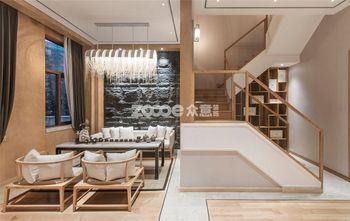富裕型140平米三室两厅中式风格楼梯图片大全