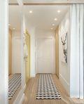 60平米一室一厅混搭风格走廊装修效果图
