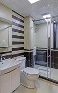90平米三室两厅现代简约风格卫生间家具图片