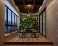 130平米三室两厅田园风格阳台装修图片大全