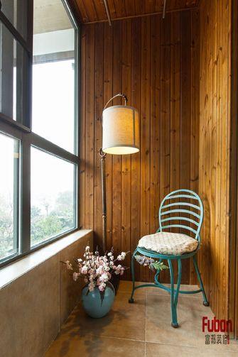 120平米三室两厅田园风格阳台装修图片大全