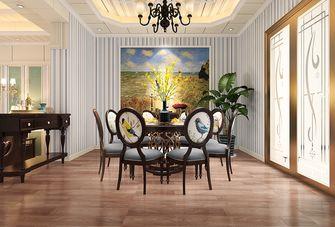 120平米四室两厅田园风格餐厅图