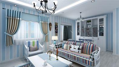 80平米公寓地中海风格客厅装修效果图