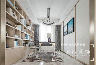 120平米复式现代简约风格书房效果图