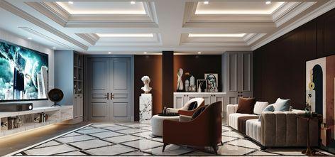 110平米别墅欧式风格影音室设计图