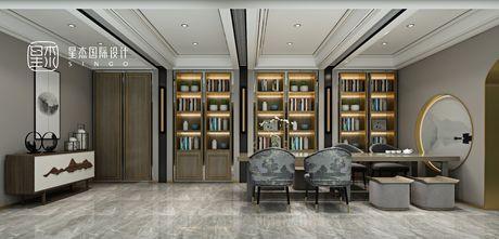 140平米别墅英伦风格书房装修效果图