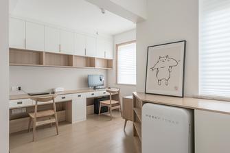 90平米三室一厅日式风格书房装修案例