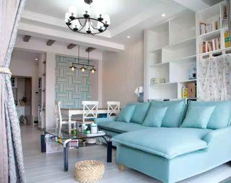 60平米一室一厅田园风格客厅欣赏图