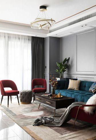 110平米复式现代简约风格客厅装修案例