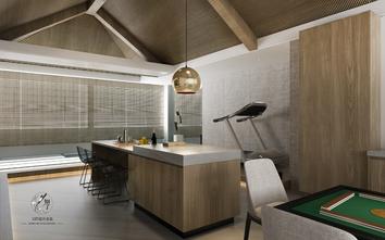 140平米三室一厅现代简约风格健身室装修案例
