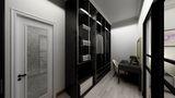 100平米公寓中式风格衣帽间欣赏图