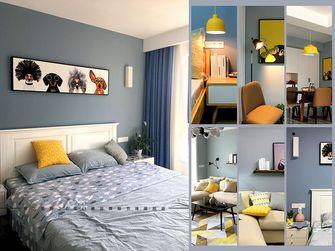 富裕型90平米北欧风格卧室壁纸图