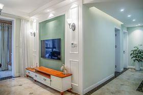110平米三室兩廳美式風格客廳圖片